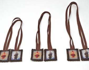 Brown scapular, Our Lady of Mount Carmel, with or without medal/crucifix, Miraculous Medal, Devotion, Catholic