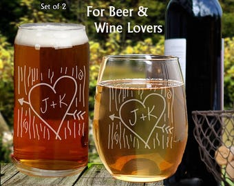 Couples Engagement Gifts, Couples Engagement Glasses, Gifts For Engagement, Gifts For Engaged Couples, Engagement Gift For Couple