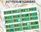 2017 Football Schedule Stickers- All teams! (planner stickers)