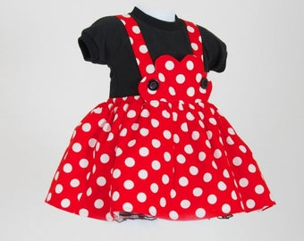 Minnie Mouse Dress, Minnie Mouse costume, Baby minnie mouse, Disney costume, Minnie mouse dress, Mickey mouse ears, Baby Minnie outfit