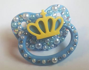 Decorated Crown Adult Pacifier ABDL/CGL