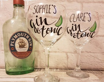 Personalised Gin Glass - Gin and Tonic Balloon Glass