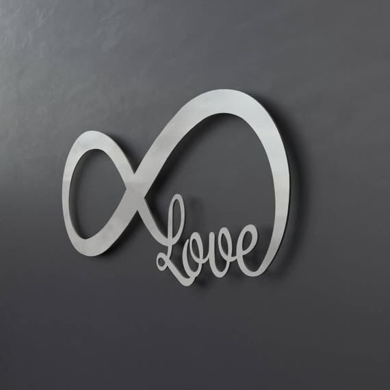 Large Metal Love Wall Art Cool Infinity Symbol Metal Wall Art Love Metal Wall Art Love Decorating Inspiration