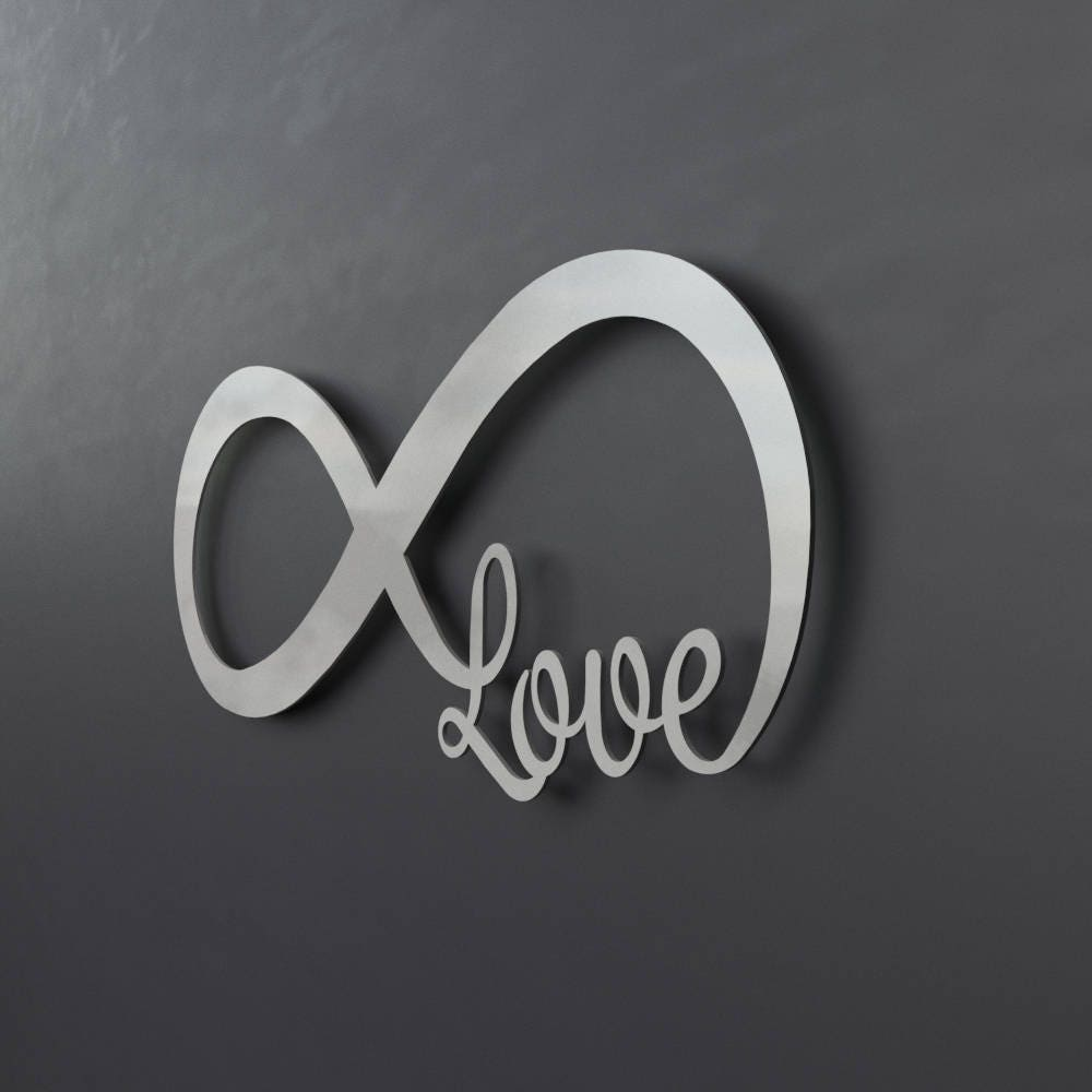 Infinity Symbol Metal Wall Art Love Metal Wall Art Love
