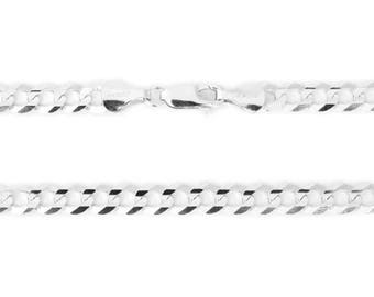 14k White Gold Diamond Cut  Chain with Lobster Clasp