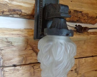 Vintage Cast Iron Wall Lamp