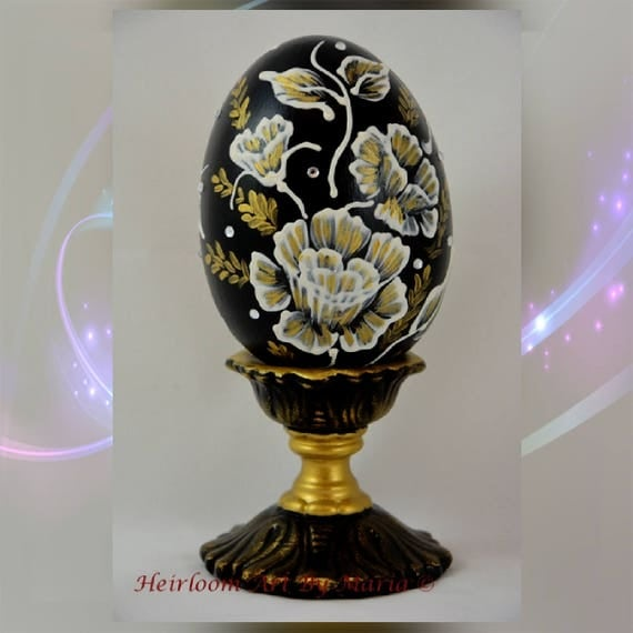 Rose victorian easter eggeaster decorations easter egg with negle Choice Image
