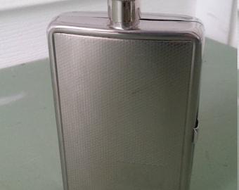 A Vintage 1998, Stainless Steel, Liquor/Cigarette Hip Flask