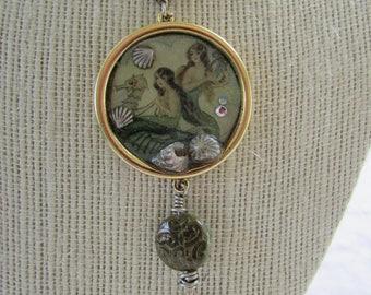 Mermaid Resin Pendant Necklace