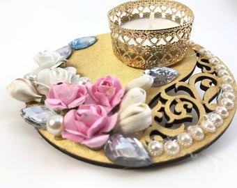 "4"" Tealight Candle Holder 4 pc // Diwali Decoration // Diya // Christmas decoration"