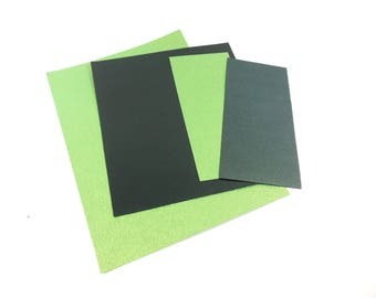 PAPER sheets - scrapbooking - shades of green textured paper