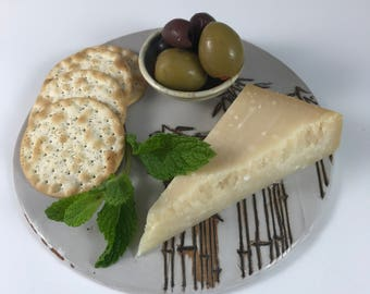 Ceramic Cheese Board, Cheese Plate, Ceramic Cheese Platter, Charcuterie Tray, Cheese Tray,
