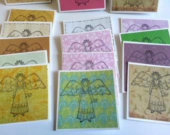 Angel Mini note cards, Bulk mini note cards, Angel mini note cards, Bulk note cards, Set of 25, 3 x 3 cards, No envelopes