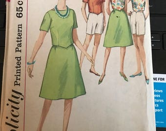 Vintage 60s Simplicity 4437 Separates Pattern-Size 12 (32-26-36)
