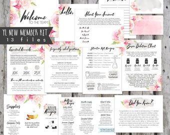 12 File Printable New Member Kits, YLEO, YL Welcome Kits Printable, New Member Kits, New Member Oil Resources, Young Living, Oil Accessories