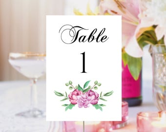 Printable table numbers, Table numbers printable, Wedding table numbers, Printable wedding table numbers, Party table numbers