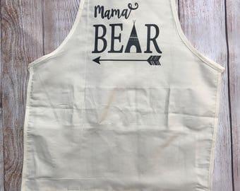 Mama Bear Apron; Aprin with Pockets; Half Apron; Womens Apron; Apron; Mama Apron; Apron for Mom; Mom Birthday Gift
