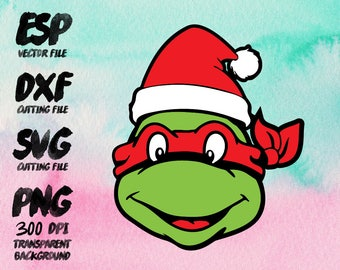 Teenage mutant ninja turtles Christmas  Clipart , SVG Cutting , ESP Vectors files , T shirt , iron on , sticker ,Personal Use