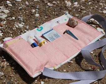 Travel First Aid Kit, Emergency Kit, Summertime Beach Print
