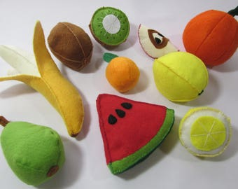 Fruit / food for play / felt fruits / play food / development of children / ready to ship