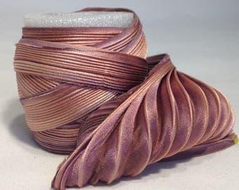 Silk ribbon Shibori N 67  Free delivery from  50 dollar...