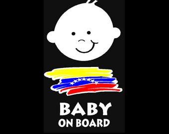 Venezuela Baby on Board Car sticker