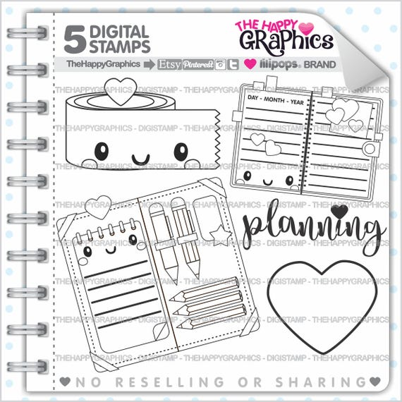 Planner Girl Stamps 80OFF Commercial Use Digi Stamp