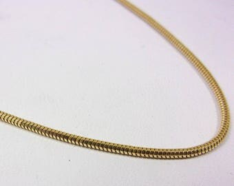 """Solid 14K Yellow Gold 18"""" Snake Chain Necklace 1.6mm, 5.3 grams"""