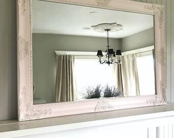 Pink Wall Mirror pink wall mirror | etsy