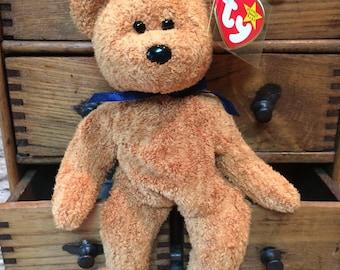 1998 TY Fuzz, Beanie Baby, Brown Bear, Beanie Babies, Fuzz Brown Bear, Nursery Bear, Teddy Bear