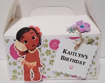 Moana Favor Boxes   Moana Birthday Favors   Baby Moana favors   Favor boxes set of 10