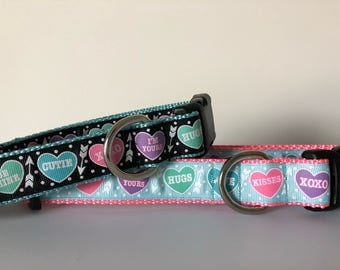 Candy Hearts 1 inch Collar