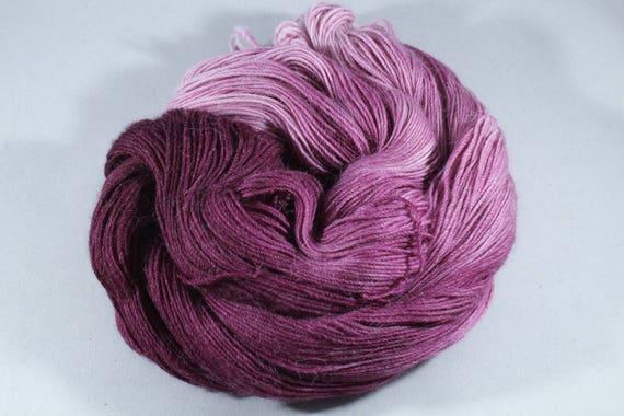 Hand Dyed Alpaca/Merino/Nylon Sock Yarn - Berry Crush