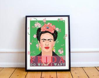 Frida Kahlo Print, Art Print, Feminism