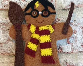 Wizard Gingerbread man Christmas decoration