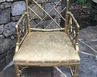 Faux Bamboo Chippendale Chair.