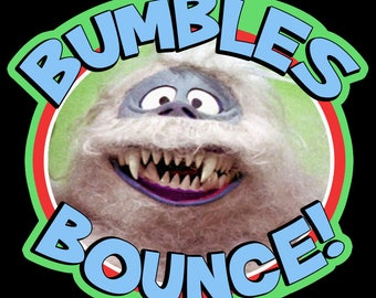 """60's Christmas Classic Rudolph The Red-Nosed Reindeer """"Bumbles Bounce!"""" custom tee Any Size Any Color"""