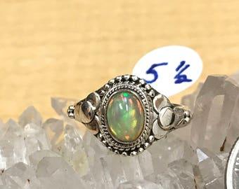 Ethiopian Opal Ring, Size 5 1/2