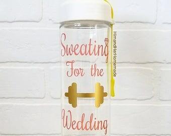 Personalized bride sports water bottle