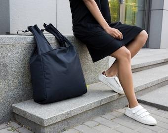 Black Tote Bag, Canvas Tote, Tote Bag With Pockets, Canvas Tote Bag, Large Tote Bag, Beach Bag, Shopping Bag, Tote Bag, Fabric Tote Bags