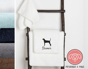 Treeing Walker Coonhound Embroidered Towel