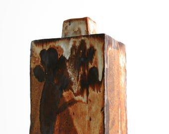 Mid Century Modern Studio Art Pottery Vase Signed Ceramic