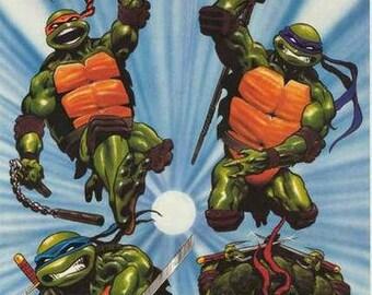 Teenage Mutant Ninja Turtles 1989 Rare Vintage Poster