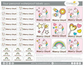 Unicor - Your personal waterproof labels (68 Qty) Free Shipping