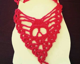 Sweet sugar skull Red barefoot Sandals. Want another color?  let's talk!