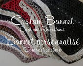 Custom Horse Fly Bonnet - with Rhinestones and Twisted Cord