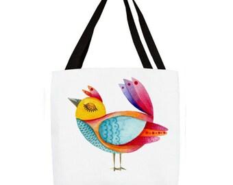 Colorful Bird Tote