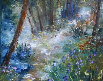 "Painting ""Forest with flowers"""