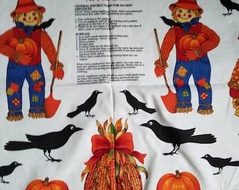 Scarecrow & pumpkin appliques