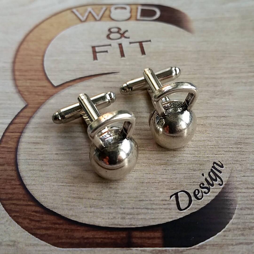 Kettlebell Cufflinks.Fitness Jewelry Coach Gift